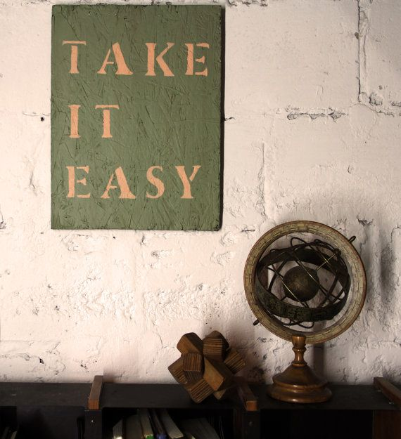 Take It Easy A positive sign for your home of by bloomfieldshop, ₪192.00