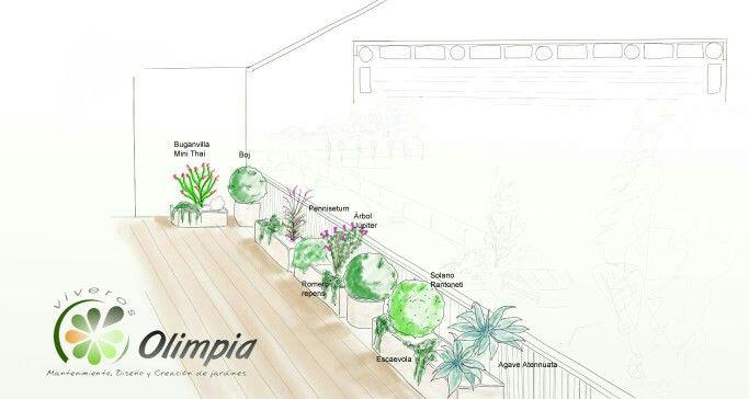 #Terraza solo jardineras #diseño #VO