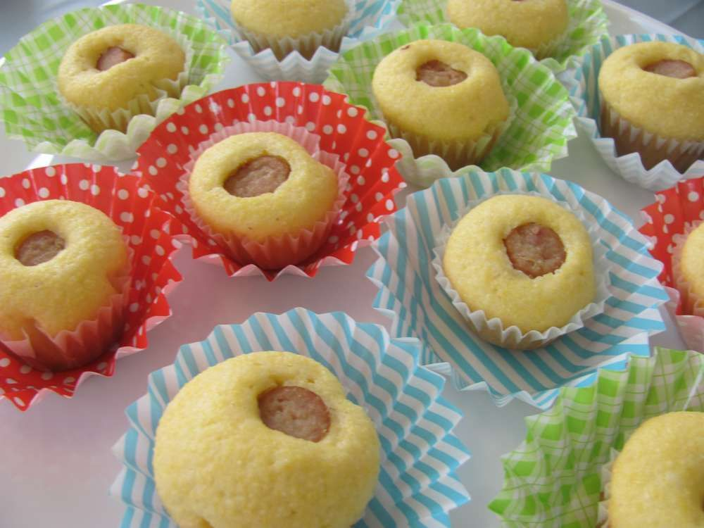 corn bread muffins with sausage