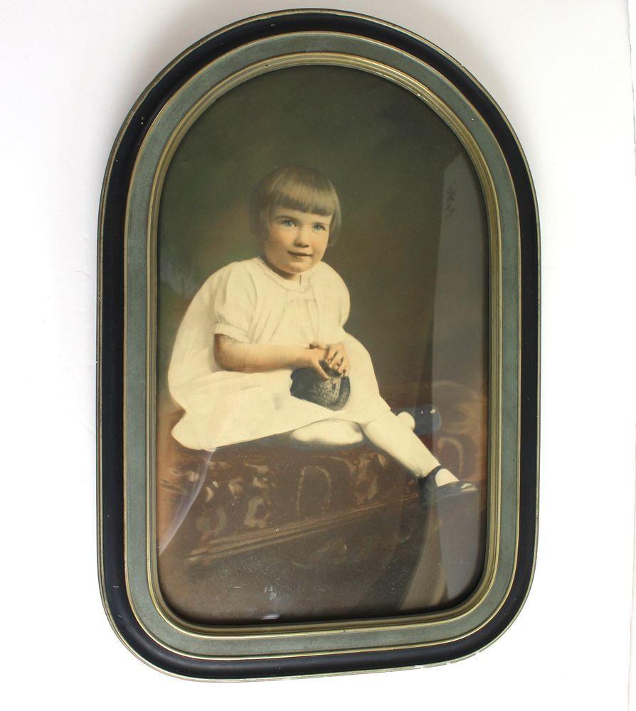 Details about vintage photo frame antique convex bubble glass details about vintage photo frame antique convex bubble glass little girl photograph picture jeuxipadfo Image collections