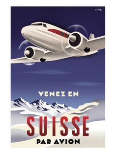 art deco aeroplane flight travel posters - Google Search | ART ...
