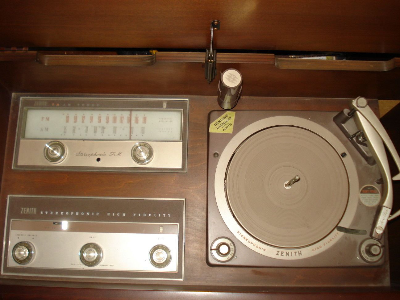 Nice Zenith Console Stereo Turntables | Zenith Console Stereo (circa 1963).  Detail Of Turntable