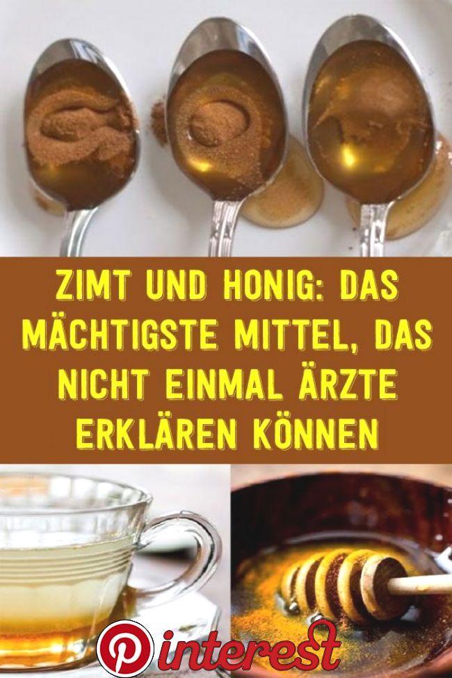 Zimt und Honig Hausmittel zur Gewichtsreduktion