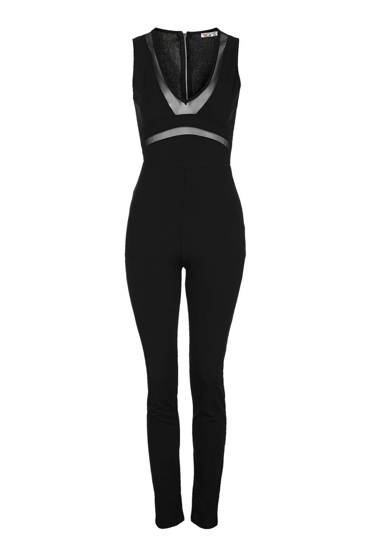Mesh Detail Jumpsuit by Wal G | Jumpsuit, Fashion, Topshop