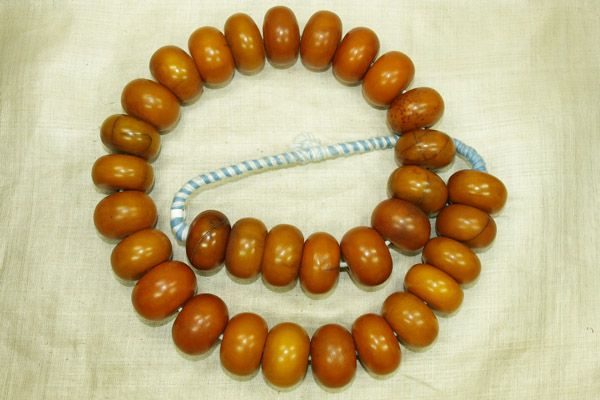 Large Mauritanian Amber Bead Necklace