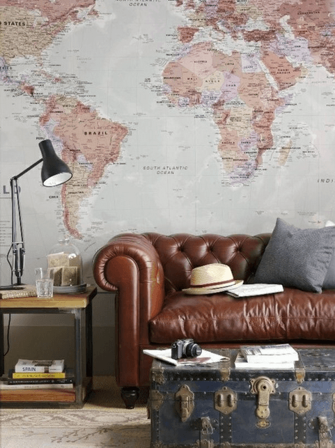 Steampunk Interior Design Where Old Meets New Vintage maps