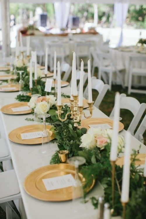Stunning Lush Greenery Wedding Table Runners Mac Wedding