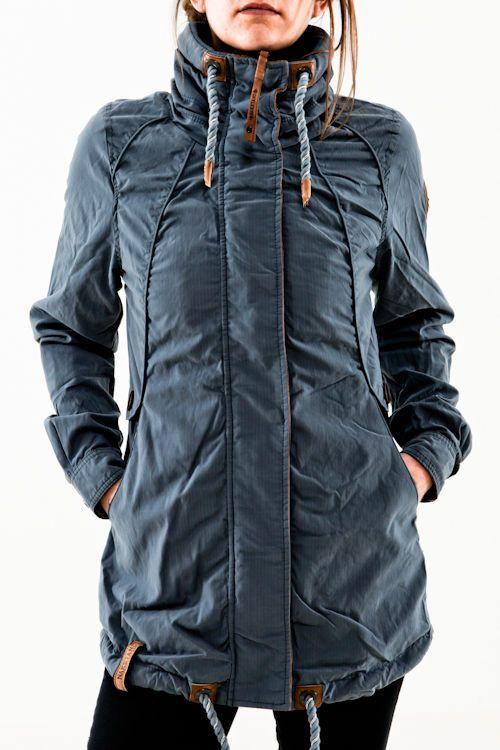Naketano Tanaka III blue grey blau grau Damen Übergangsjacken Jacke Outdoor  Fashion, T Shirt And 7b229b1127