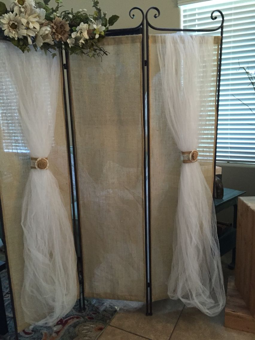 Wedding decorations with feathers  Rustic wedding backdrop  Burlap wedding decorations  Pinterest