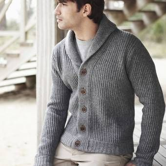 Veste tricot homme blanche