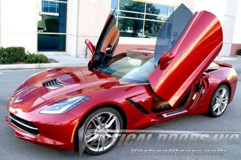 Chevrolet Corvette C7 2014 2016 Vertical Lambo Direct Bolt On Door Hinges 2pc Chevrolet Corvette C7 Corvette Stingray Red Corvette