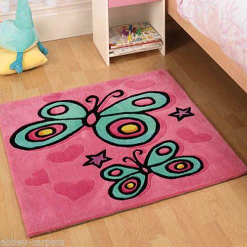 Pink Butterfly Rug Childrens Rugs Pink Rug Kids Bedroom