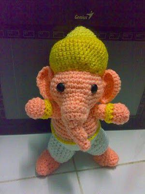 Crochet Ganesha Amigurumi doll- free pattern | Graphic Ganesha ...
