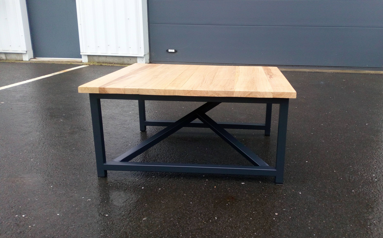 Table Basse Chene Massif Et Metal Home Decor Decor Table