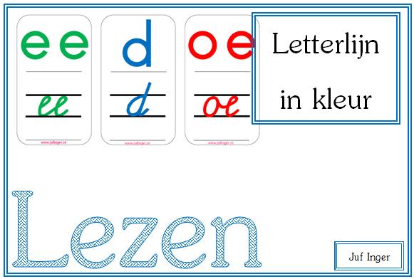 Letterlijn in kleur - juf Inger: fantastisch om mee te oefenen thuis ;-)