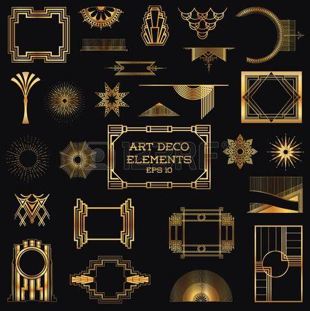 Photo of Art deco vintage frame and design elements