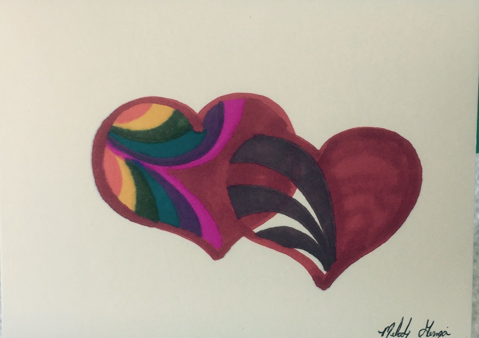"""Love is Love"" Hand Painted Greeting Card & Design by Melody Germain of My ""Escape"" Art"