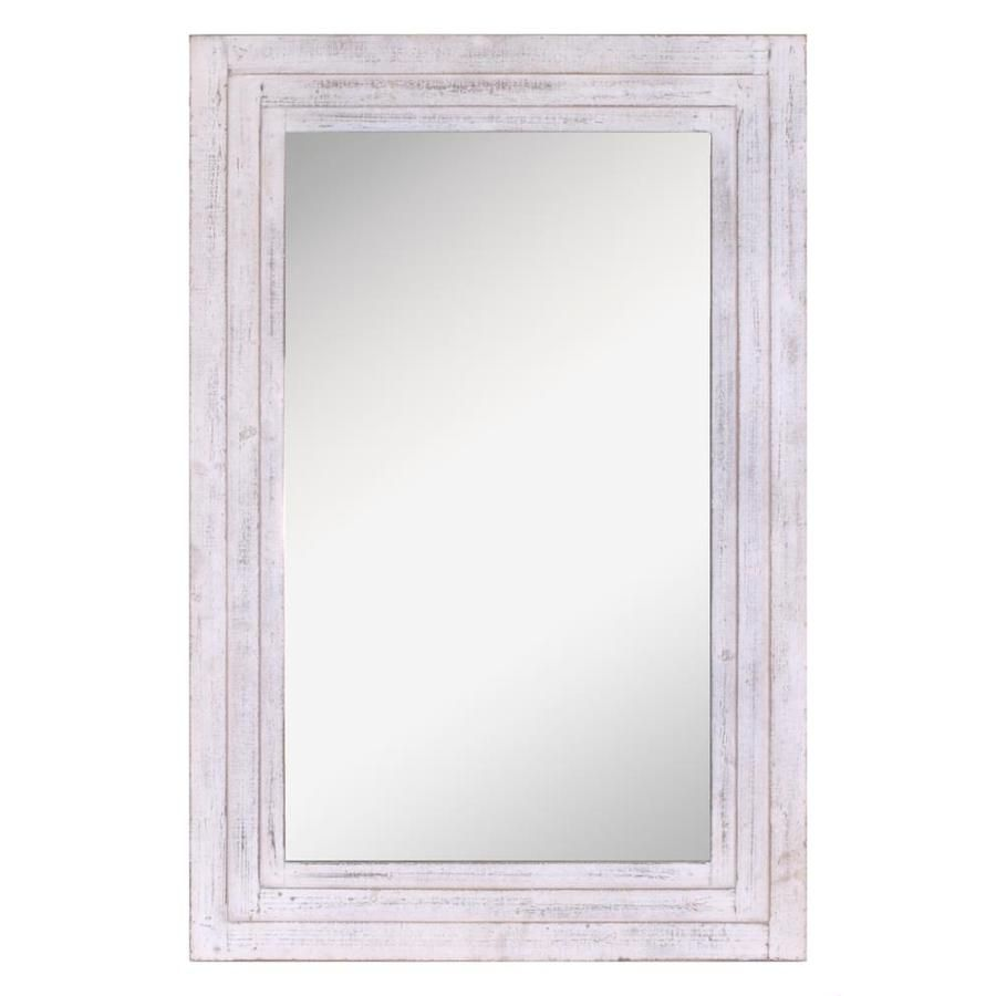 Distressed White Framed Wall Mirror White Distressed Frame Framed Mirror Wall White Mirror Frame
