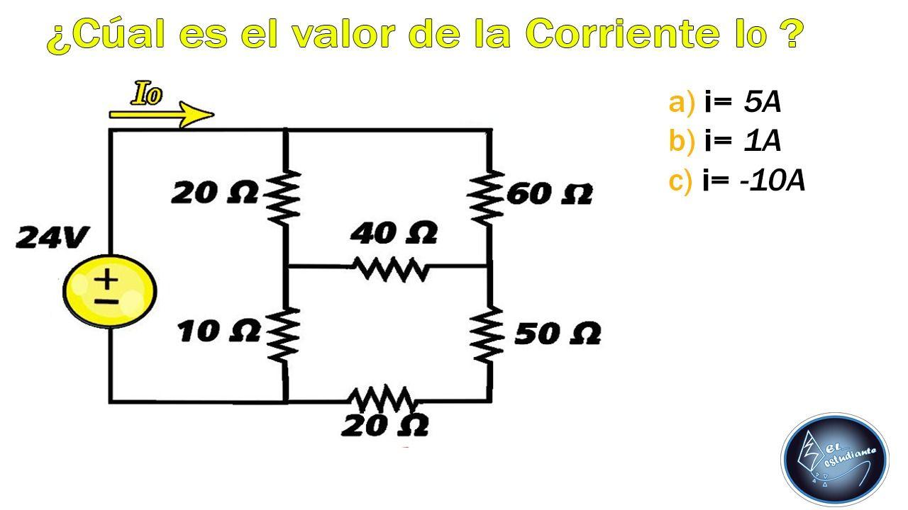 Como Calcular Corriente Mediante Resistencia Equivalente Circuito Circuito Eléctrico Circuito Paralelo