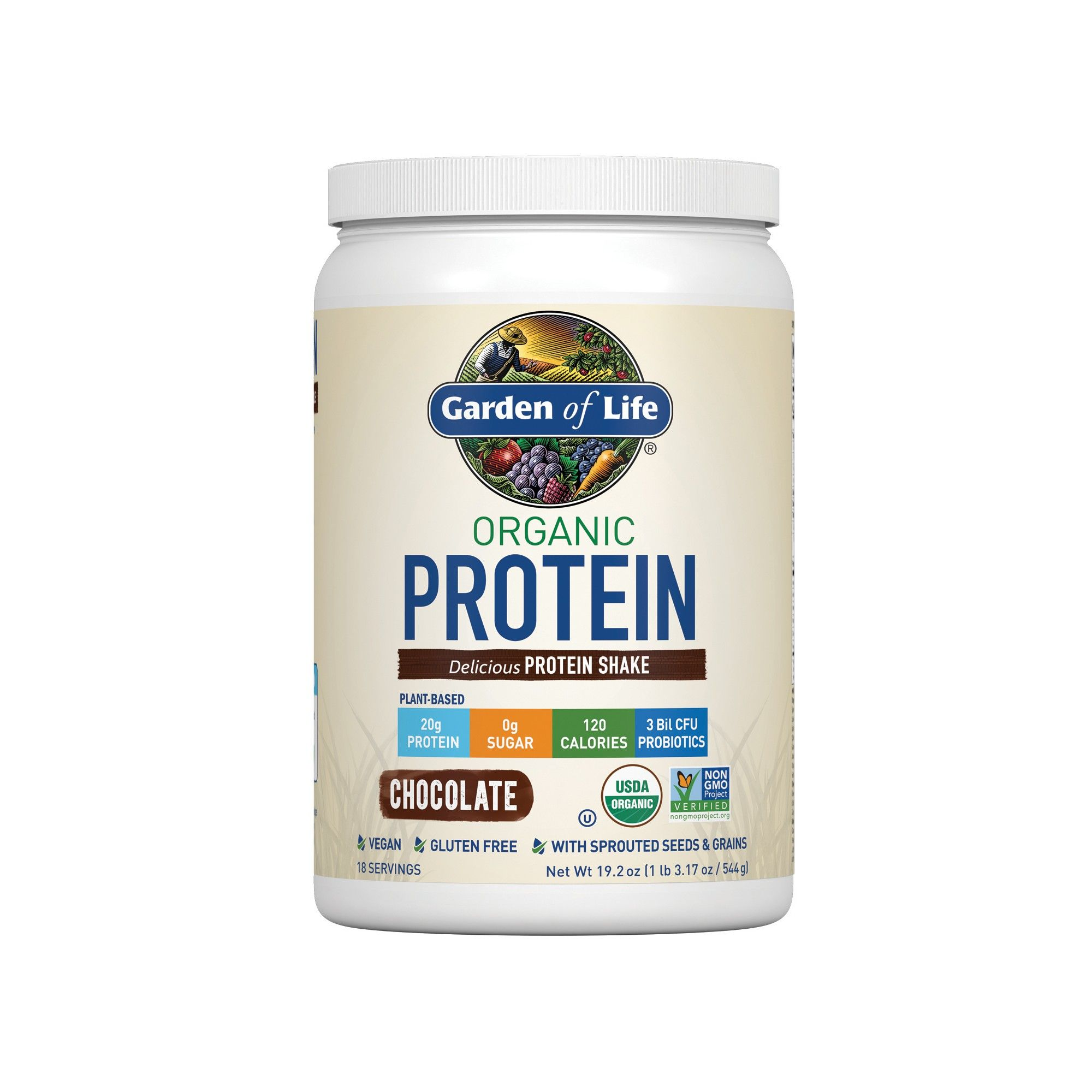 Garden of Life Organic Protein Powder Chocolate 19.2oz