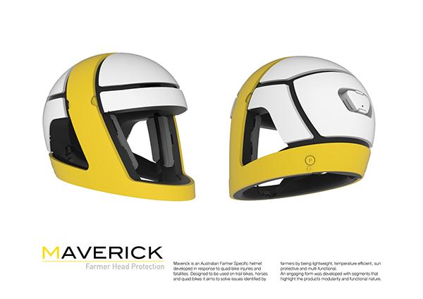 Maverick is an Australian Farmer Specific helmet developed