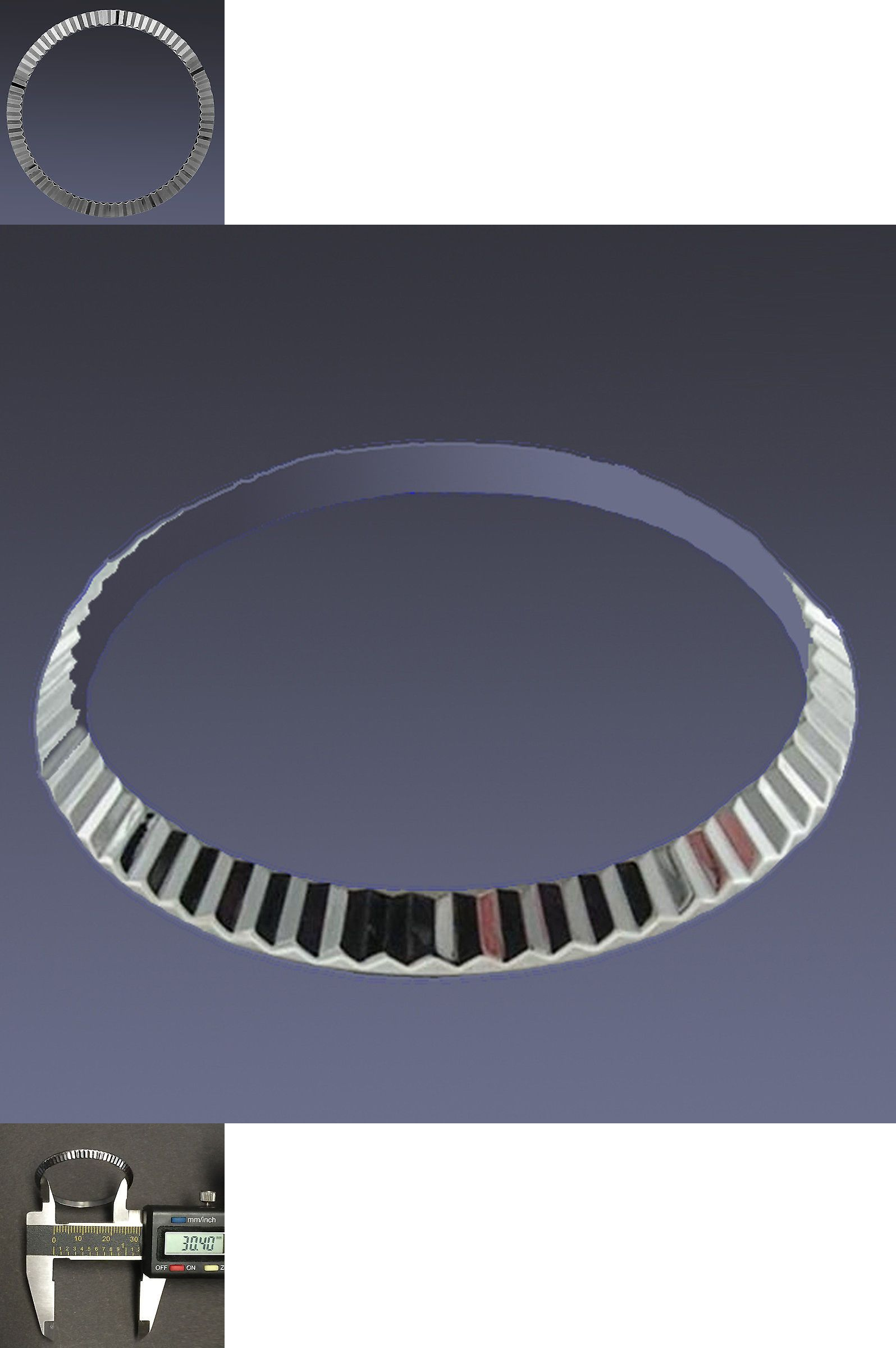 Bezels and Inserts 57714: Fluted Stainless Steel 36Mm Bezel For