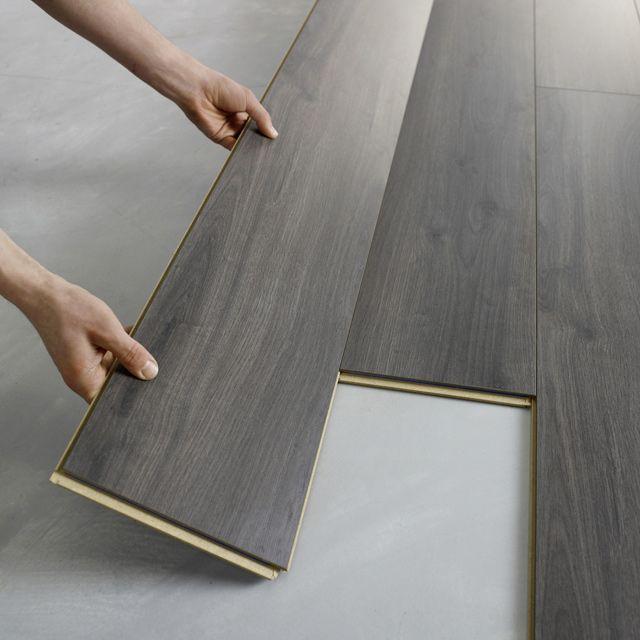 parquet flottant gris recherche google d coration maison pinterest stratifi revetement. Black Bedroom Furniture Sets. Home Design Ideas