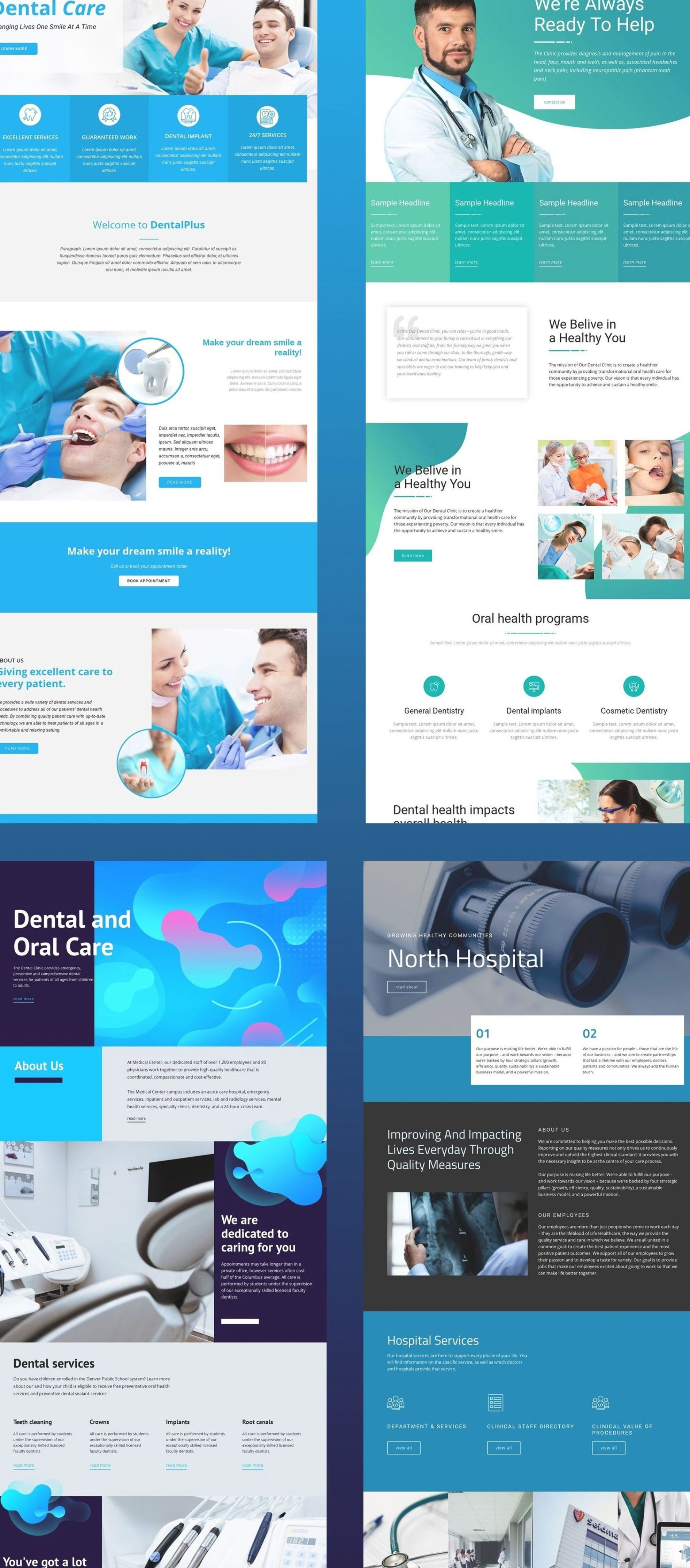 Nicepage Is Your First Website Designer With Revolutionary Natural Positioning Element Overlapping And W In 2020 Medical Website Design Healthcare Website Web Design