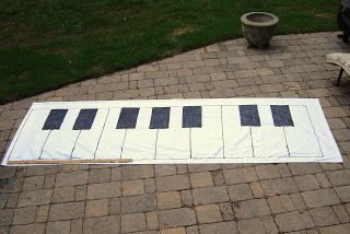 Tutorial How To Make A Giant Keyboard Floor Mat Piano Lessons