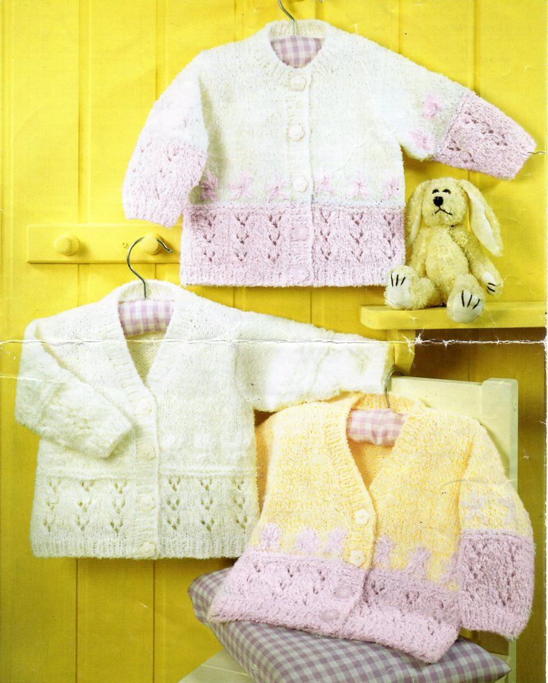 00b662e17f14 baby cardigan knitting pattern pdf childrens lacy jacket v or round ...