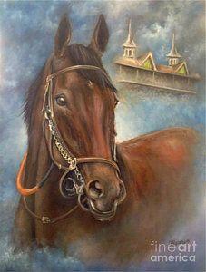 Race Horse Painting - American Pharoah by Patrice Torrillo