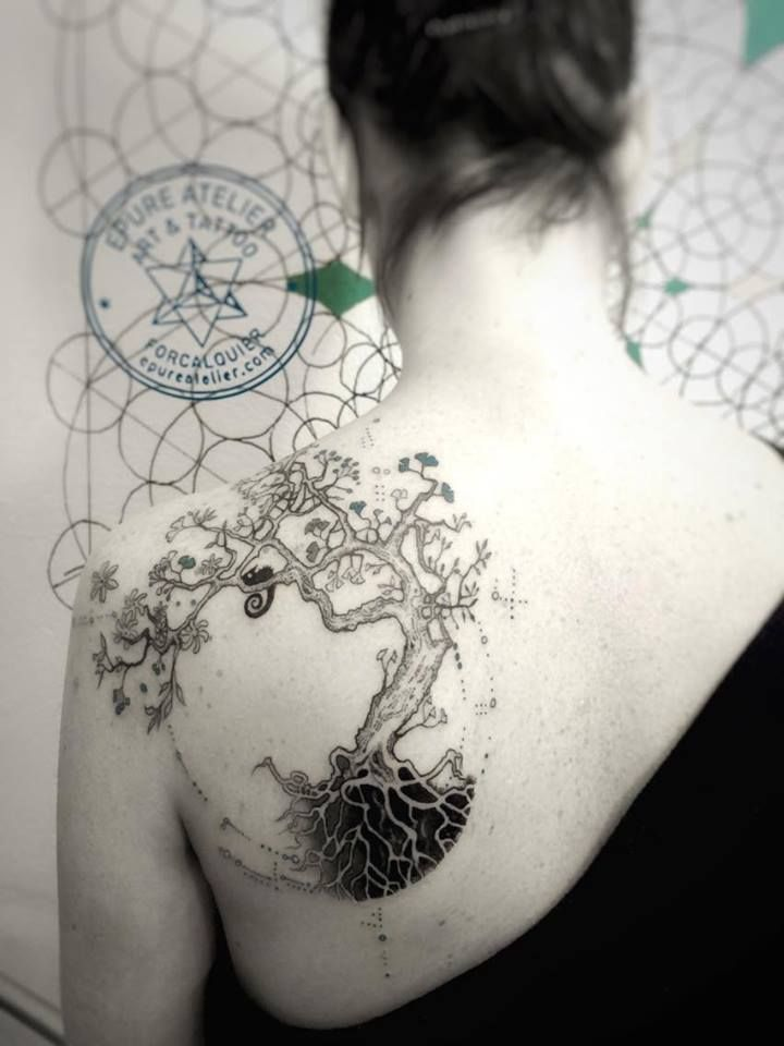 tree of life arbre de vie vesica piscis tatoeage pinterest tatoo tattoo and tatting. Black Bedroom Furniture Sets. Home Design Ideas