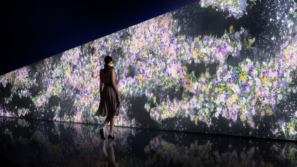 The interactive installations by teamLab