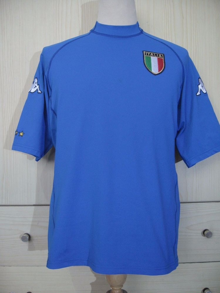 a47e2c942 ITALY EURO 2000 KAPPA HOME SOCCER JERSEY PLAYER SHIRT XL VINTAGE MAGLIA  TRIKOT (eBay Link)