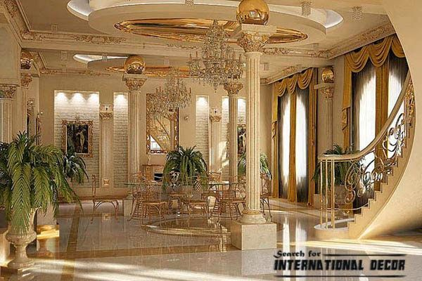 Neoclassical style in the interior and furniture home is for American classic interior