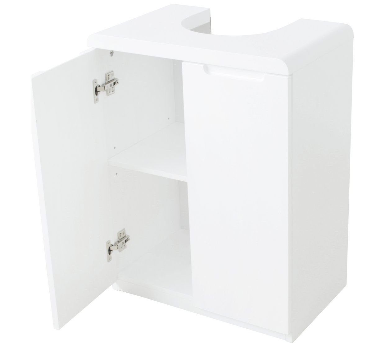 Buy Argos Home Curve Under Sink Storage Unit White Bathroom Shelves And Storage Units Argos Under Sink Storage Under Sink Storage Unit Sink Storage