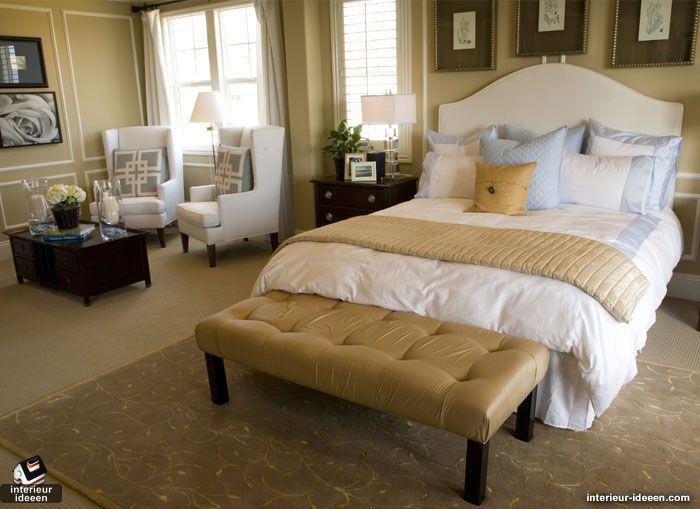 Slaapkamer voorbeeld. (niet de kleuren, maar het idee) | bed room ...