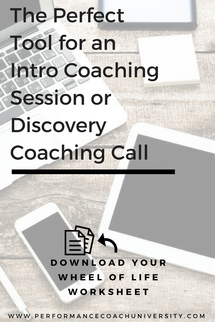 The Perfect Tool for an Intro Coaching Session or Discovery Coaching Call. The Wheel of Life. Checkout this weeks PCU Coaching Tool: Here's how to use the Wheel of Life Coaching Tool.(Don't forget to grab your FREE worksheet inside. #lifecoachingtools