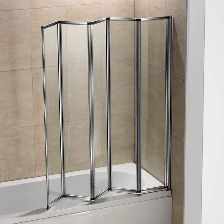 Folding Glass Doors Tub Shower Folds Folding Chrome Bath Shower