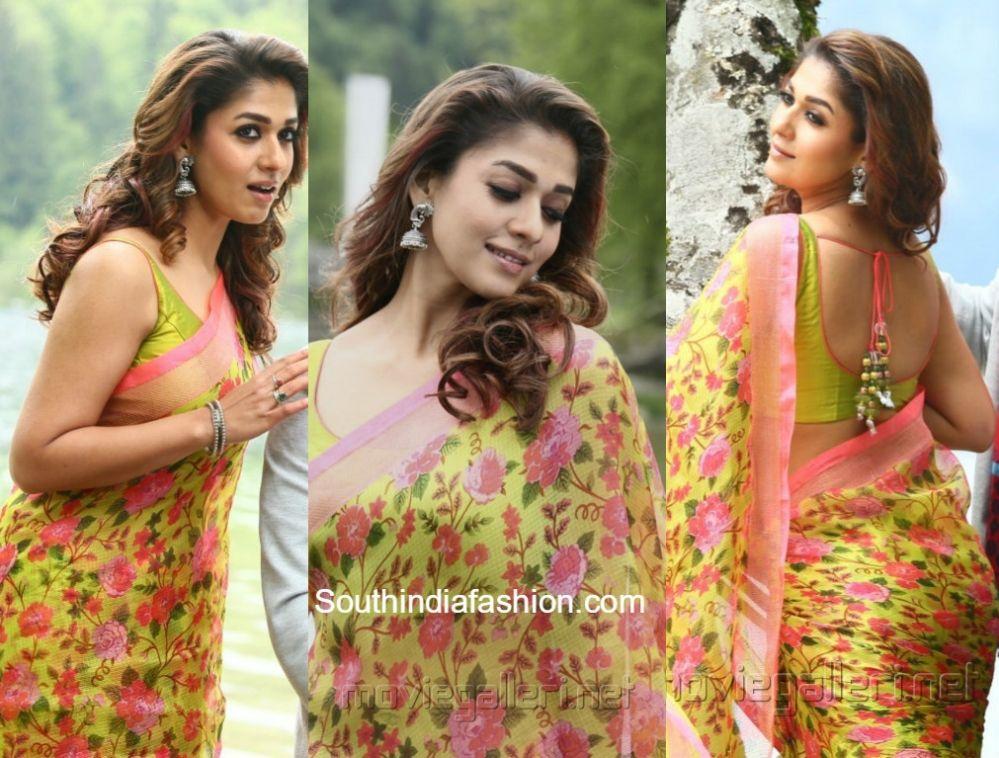 Nayanthara S Floral Sarees In Babu Bangaram My