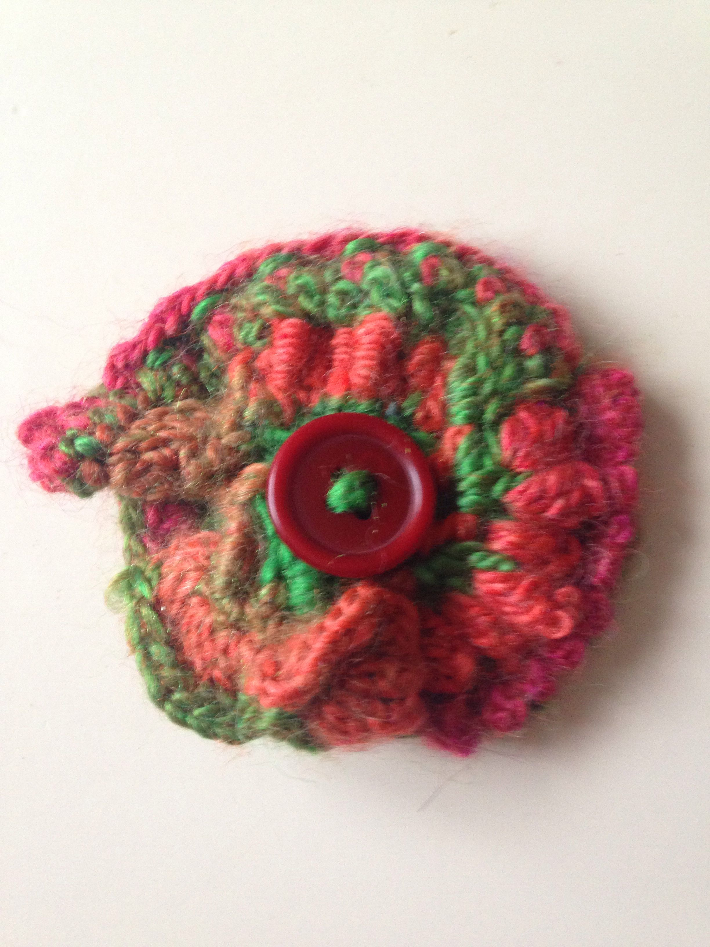ruffle scarf storenvy products brooch crocheted on neckwarmer baby original with flower crochet