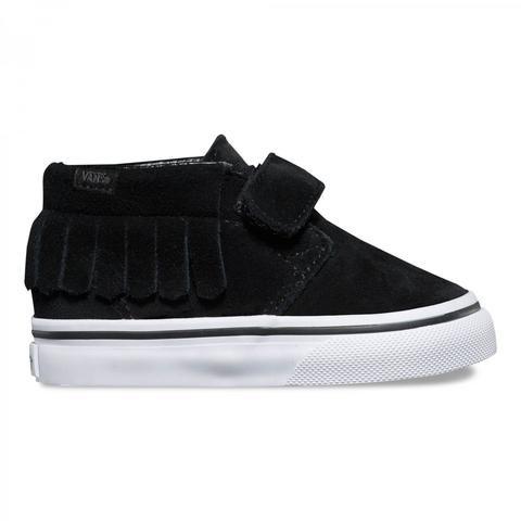 Vans - Toddler black suede Chukka V Moc shoes