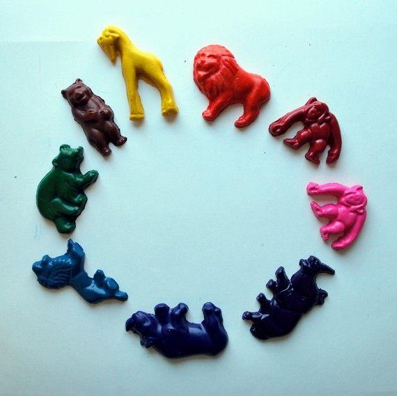 Animale pastelli realizzati da pastelli riciclati di beeperbebe