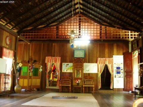 Interior Of The Traditional Malay House.