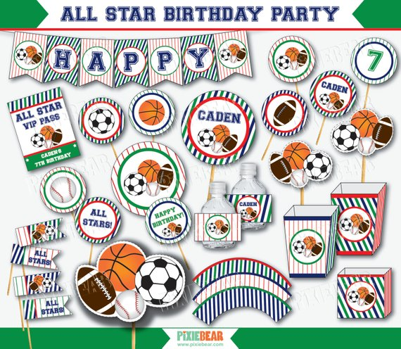 8648e1900614a Sports Party - Sports Birthday - Sports First Birthday - All Star ...