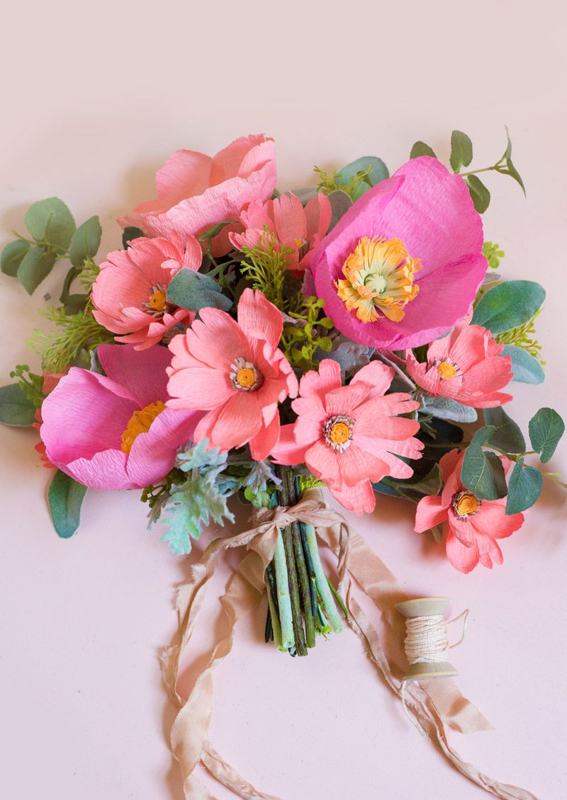 Paper Poppy Sunrise Wildflower Bouquet (Appetite Paper) | Paper ...