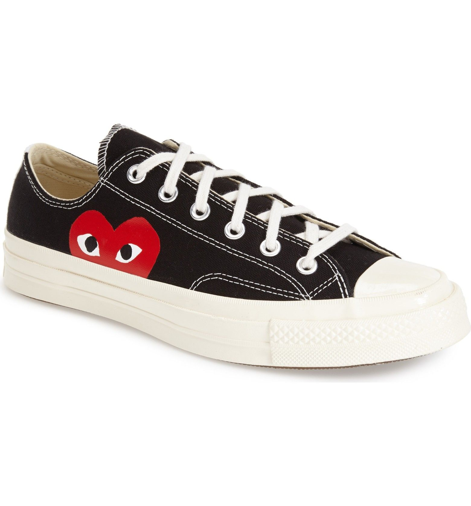 Comme des Gar?ons Women's X Converse Chuck Taylor Hidden Heart Low Top Sneaker