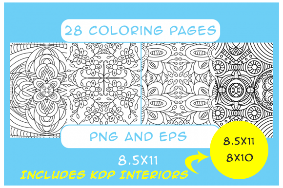 28 Pattern Coloring Pages Kdp Interior Graphic By Designs By David Creative Fabrica Pattern Coloring Pages Coloring Pages Coloring Book Download