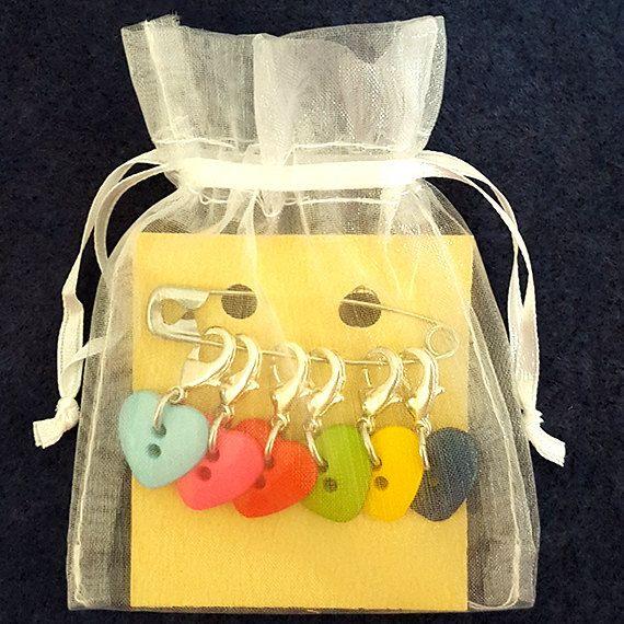 handmade APPLES set of 4 Knitting Crochet stitch markers