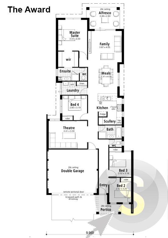The Award Home Design Floor Plans House Design House Plans
